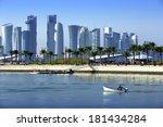 Stock photo skyline of the doha 181434284