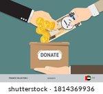 hands putting 200 united arab... | Shutterstock .eps vector #1814369936