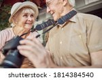 Joyous Attractive Aged Lady In...