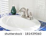 sunny bathroom sink   Shutterstock . vector #181439060