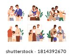 scene of kid adoption.... | Shutterstock .eps vector #1814392670