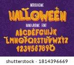 halloween font. typography... | Shutterstock .eps vector #1814396669