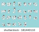 alphabet a z cow | Shutterstock .eps vector #181440110