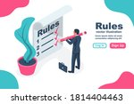 landing page rules. businessman ... | Shutterstock .eps vector #1814404463