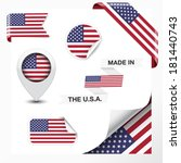 made in the usa collection of... | Shutterstock .eps vector #181440743