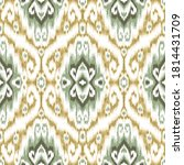 Ethnic Ikat Chevron Pattern...