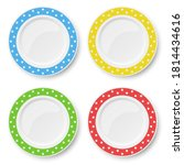 set of color vector plates with ...   Shutterstock .eps vector #1814434616