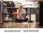 businesswoman sitting on office ... | Shutterstock . vector #181443530