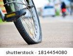 An Old Bike That Has Back Flat...
