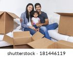 asian chinese family  parents... | Shutterstock . vector #181446119