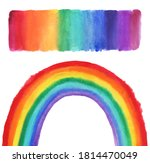 watercolor rainbow on white....   Shutterstock . vector #1814470049
