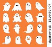 collection of cute halloween...   Shutterstock .eps vector #1814491409