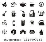 tea or hot beverage icons black ... | Shutterstock .eps vector #1814497163