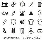 tailor shop icons black   white ... | Shutterstock .eps vector #1814497169