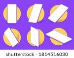 realistic smartphone mockup. in ... | Shutterstock .eps vector #1814516030