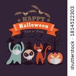 halloween cartoon characters... | Shutterstock .eps vector #1814522303