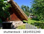 View Of A Small Wooden Hut Or...
