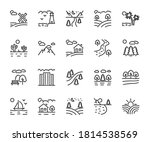 vector set of landscape line... | Shutterstock .eps vector #1814538569