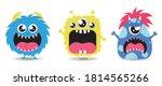 cute monsters set. stock vector ...   Shutterstock .eps vector #1814565266
