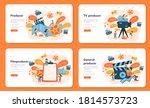 producer web banner or landing... | Shutterstock .eps vector #1814573723