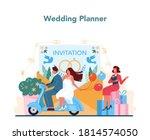 wedding planner concept.... | Shutterstock .eps vector #1814574050