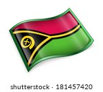 vanuatu flag icon  isolated on... | Shutterstock . vector #181457420