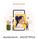 magazine editor online service... | Shutterstock .eps vector #1814575916