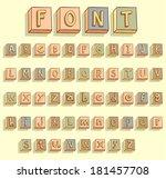 vector alphabet font   alphabet ...   Shutterstock .eps vector #181457708