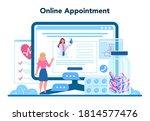 cardiologist online service or...   Shutterstock .eps vector #1814577476