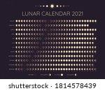 Moon Calendar 2021. Lunar...