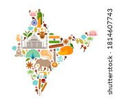 map of india from popular... | Shutterstock .eps vector #1814607743