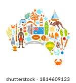australia map silhouette made... | Shutterstock .eps vector #1814609123