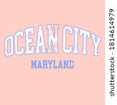 Ocean City print design for apparel, t shirt and other uses.