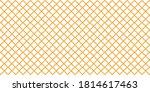 orange line shaped design on... | Shutterstock . vector #1814617463