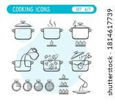 cooking instructions icon set....   Shutterstock .eps vector #1814617739