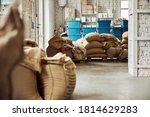 Warehouse With Coffee Beans...