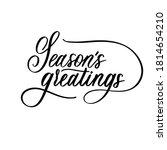 season's greatings   black hand ... | Shutterstock .eps vector #1814654210