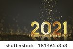 2021 happy new year holiday... | Shutterstock .eps vector #1814655353
