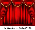 theater curtains | Shutterstock .eps vector #181465928