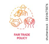 fair trade policy red gradient... | Shutterstock .eps vector #1814675876