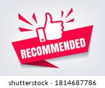 recommended with thumb up. like ... | Shutterstock .eps vector #1814687786