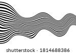 abstract black line wave curve...   Shutterstock .eps vector #1814688386
