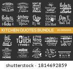 kitchen design bundle. hand...   Shutterstock .eps vector #1814692859