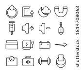 web line icon vector... | Shutterstock .eps vector #1814708063