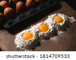 Three Egg Yolks In The White...