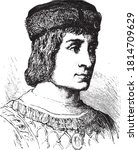 louis xii of france. vintage... | Shutterstock .eps vector #1814709629