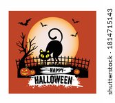 happy halloween shirt and...   Shutterstock .eps vector #1814715143