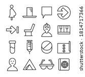 simple line icon vector... | Shutterstock .eps vector #1814717366