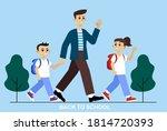 social distancing at school... | Shutterstock . vector #1814720393