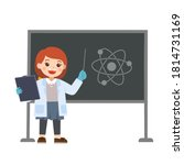 little science kid working with ... | Shutterstock .eps vector #1814731169